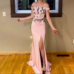 Dusty Pink Green Faviana Gown